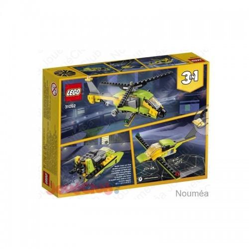 L AVENTURE EN HELICOPTERE LEGO 31092