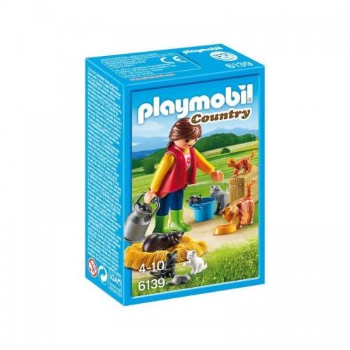 SOIGNEUR AVEC CHATS PLAYMOBIL 6139