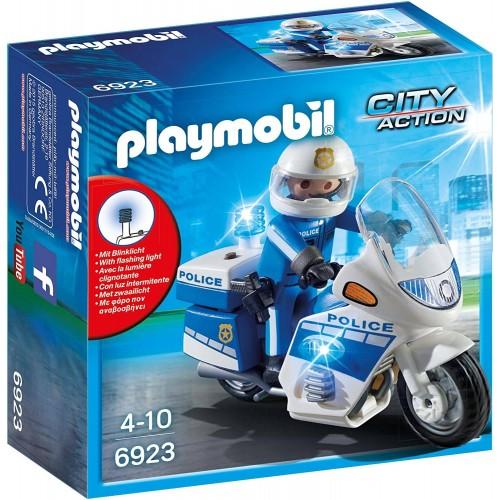 MOTO DE POLICIER AVEC GYROPHARE PLAYMOBIL 6923