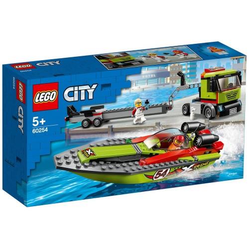 LE TRANSPORT DU BATEAU DE COURSE LEGO 60254