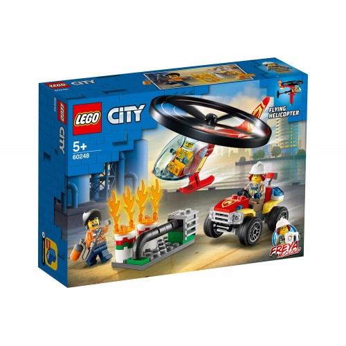 L INTERVENTION DE L HELICO ET POMPIER LEGO 60248
