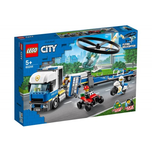 LE TRANSPORT DE L HELICOPTERE POLICE LEGO 60244