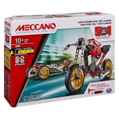 VOITURE ET MOTO 5 MODELES MECCANO 6053371