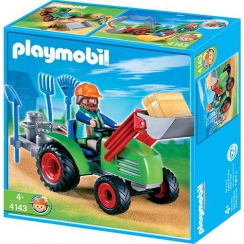 AGRICULTEUR AVEC TRACTEUR PLAYMOBIL 4143