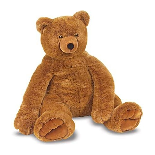 JUMBO BROWN TEDDY BEAR PLUSH MELISAA&DOUG 12138