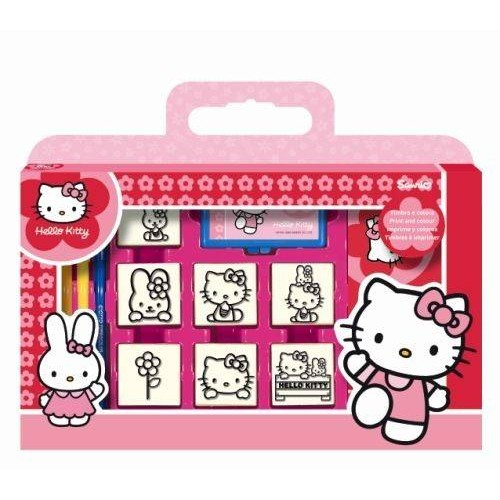 VALISETTE 7 TAMPONS HELLO KITTY SIDJ 7803
