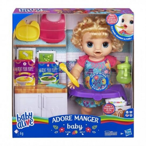 ADORE MANGER CHEVEUX BLONDS HASBRO E4894