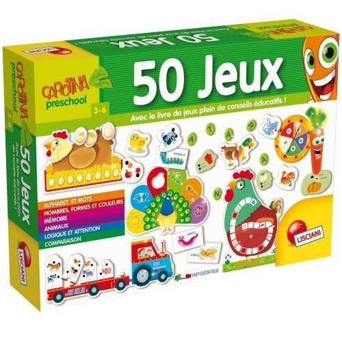 CAROTINA 50 JEUX LISCIANI FR66186