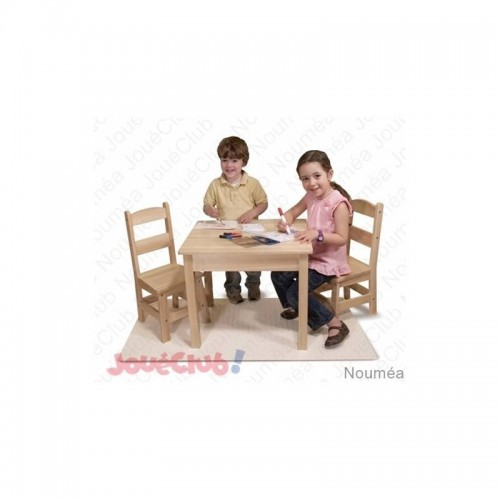 WOODEN TABLE & CHAIRS SET MALISSA&DOUG 12427