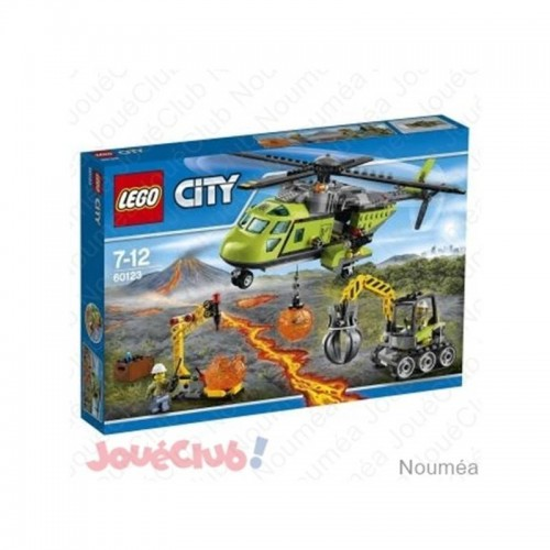 LHELICOPTERE D APPROVISIONNEMENT DU VOLCAN LEGO